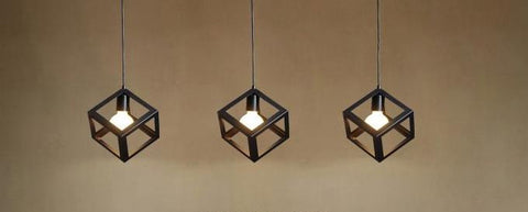 Pendant Lamp (RH reproduction Cubes) - Three Cubes Lightings (Singapore)