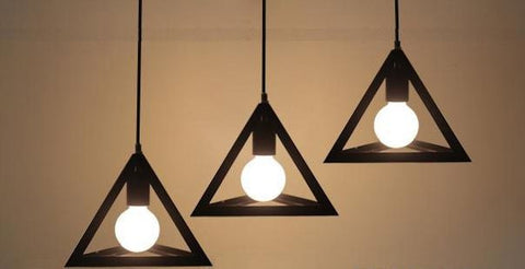 Pendant Lamp (RH reproduction Prisms) - Three Cubes Lightings (Singapore)