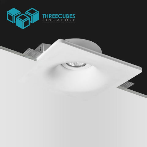 Akiya Curve Frameless Adjustable Spotlight Round Fitting(GU10/MR16) - Three Cubes Lightings (Singapore)