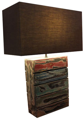 Table Lamp (Salvaged Rectangular S) - Three Cubes Lightings (Singapore)