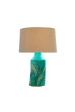 Table Lamp (Clearance Piece) MEDIUM GREEN MARBLE - Three Cubes Lightings (Singapore)