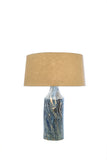[OUT OF STOCK] Table Lamp (Clearance Piece) LARGE BLUE MARBLE - Three Cubes Lightings (Singapore)