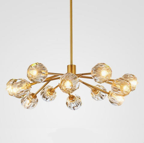 Pendant Lamp (Glass Gold) - Three Cubes Lightings (Singapore)