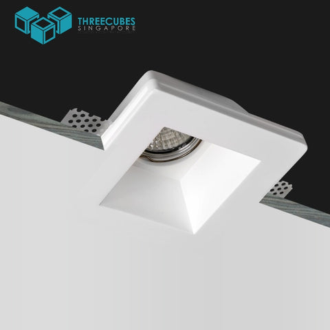 Akiya Frameless Spotlight Square Fitting(GU10/MR16) - Three Cubes Lightings (Singapore)