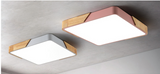 LED Square Ceiling Lamp (Wood & Colour Theme) - Three Cubes Lightings (Singapore)