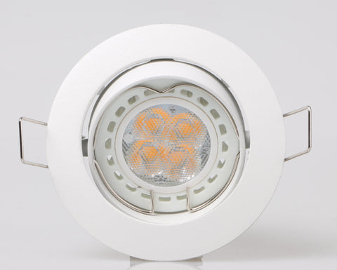 Single recessed spot light holder round single gu10par16 recessed spot light holder with clip aloadofball Image collections