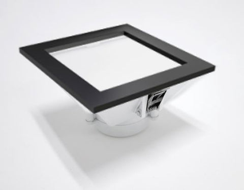 Black LED Square Downlights (11W Dimmable) AZ E-Lite - Three Cubes Lightings (Singapore)