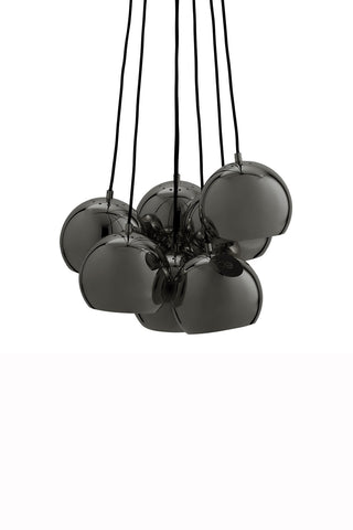Pendant Lamp (Benny Frandsen BALL MULTI Chrome Black original) - Three Cubes Lightings (Singapore)