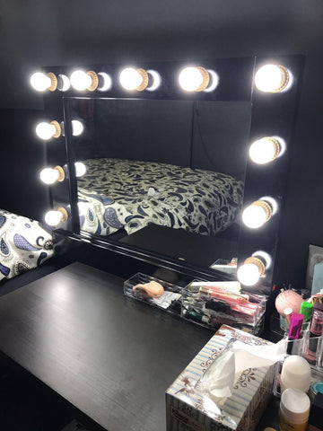 Vanity Mirror - Glamour Mirror Hollywood style - Three Cubes Lightings (Singapore)
