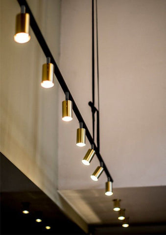 Metallic Gold Copper Silver Led Track Lighting Singapore