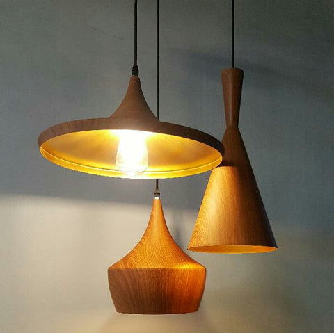 Pendant Lamp (Wood Grain Series 3) - Three Cubes Lightings (Singapore)
