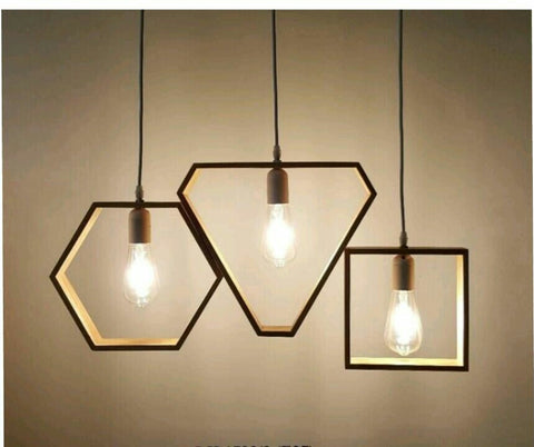 Pendant Lamp (Real Wood Series 2) - Three Cubes Lightings (Singapore)