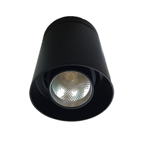 LED Black Round Surface Mount Downlights (18W/25W) - Three Cubes Lightings (Singapore)