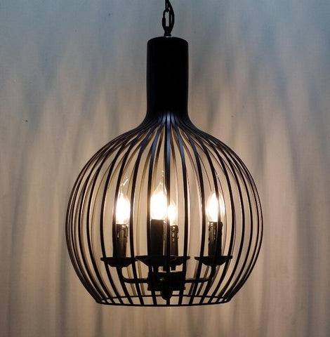 Pendant Lamp (RH reproduction Cage) - Three Cubes Lightings (Singapore)