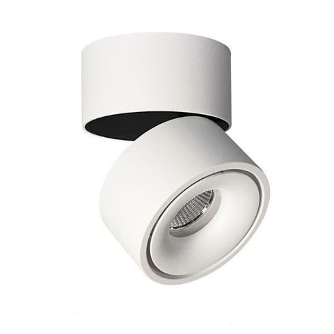 LED Black Round Surface Mount Downlights Tilt-able (8W/13W) - Three Cubes Lightings (Singapore)