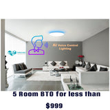 HDB BTO 5 Room SMART-NATION LED Bundle (YEELIGHT) - Three Cubes Lightings (Singapore)