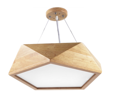 Pendant Lamp (Real Wood Series 8) - Three Cubes Lightings (Singapore)