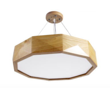 Pendant Lamp (Real Wood Series 9) - Three Cubes Lightings (Singapore)