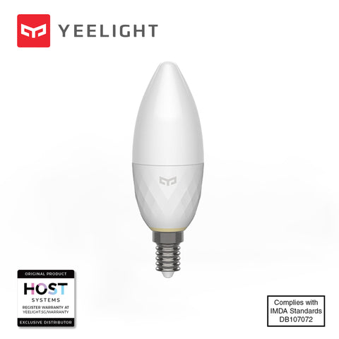 Yeelight Smart Bulb Bluetooth MESH (Tunable White) E14 - Three Cubes Lightings (Singapore)