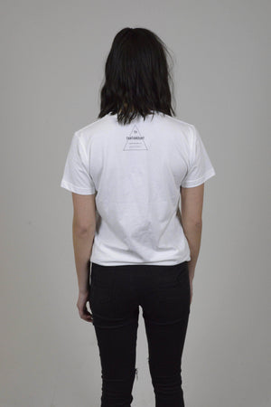 Unisex White Compassion Over Tee | Tantamount Apparel