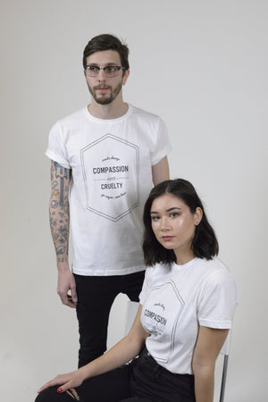 Unisex White Compassion Over Tee