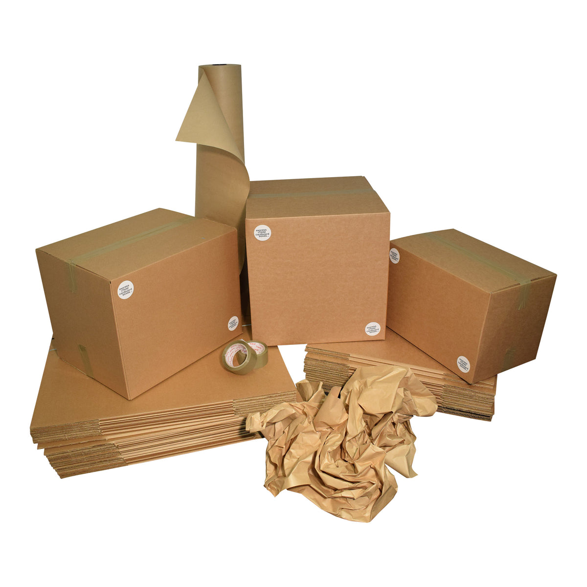 Buy Once Used Cheap Cardboard Boxes Ideal For Removals And Deliveries