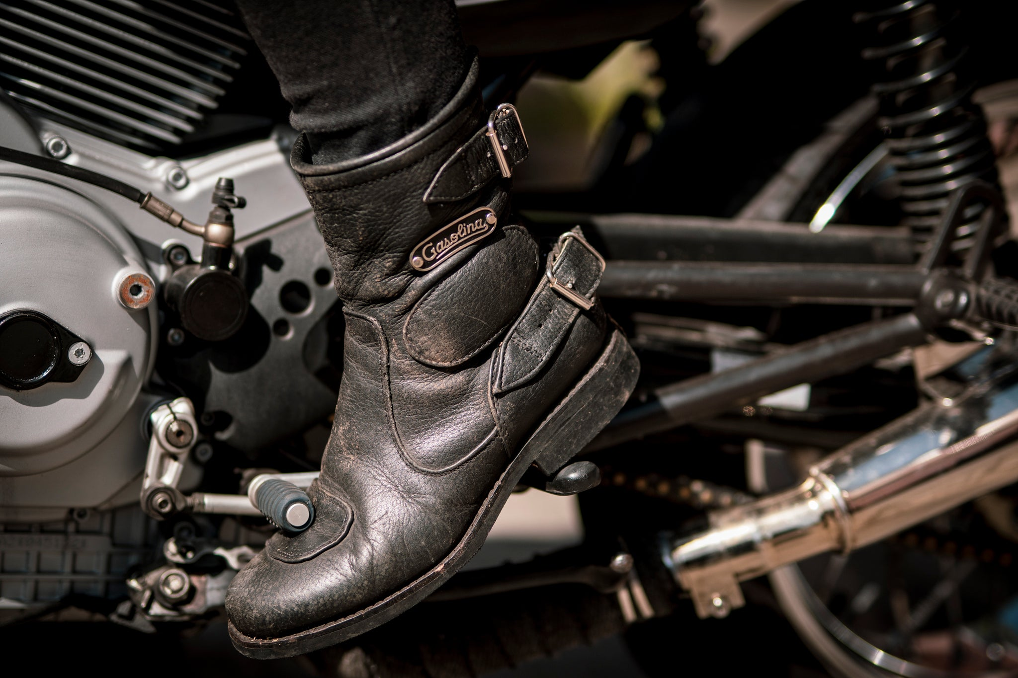 Gasolina Women's Leather Motorcycle Boots at Moto Femmes Online Australia