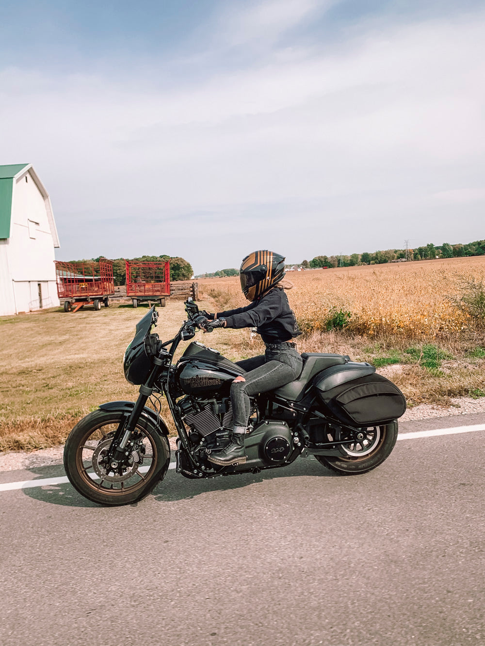 Women who ride Harley FXLRS