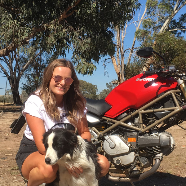 Jessica Bone's 1995 Ducati Monster 400 at Moto Femmes
