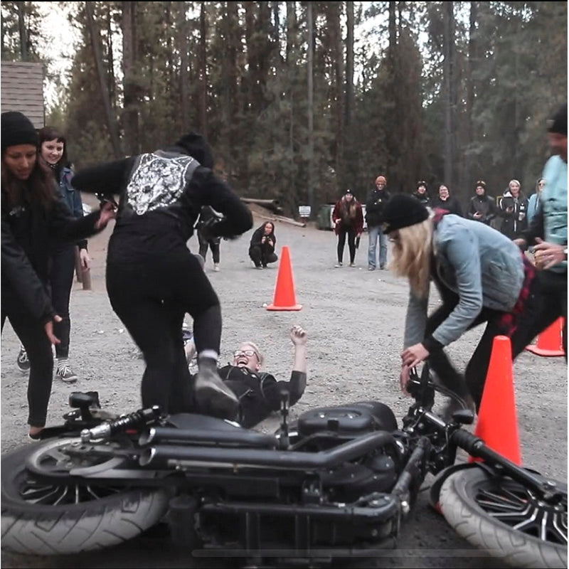 Fun and games and the all women motorcycle campouts
