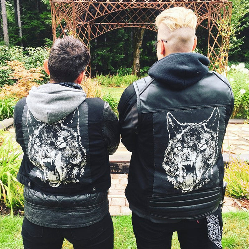 Matching back patches