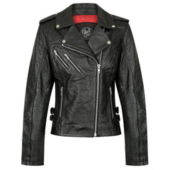 Black Arrow Leather motorcycle jacket for women