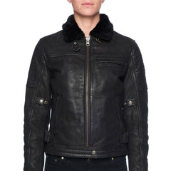Night hawk winter motorcycle jacket by black arrow label