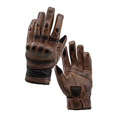 Brown leather motorcycle gloves by Blackbird
