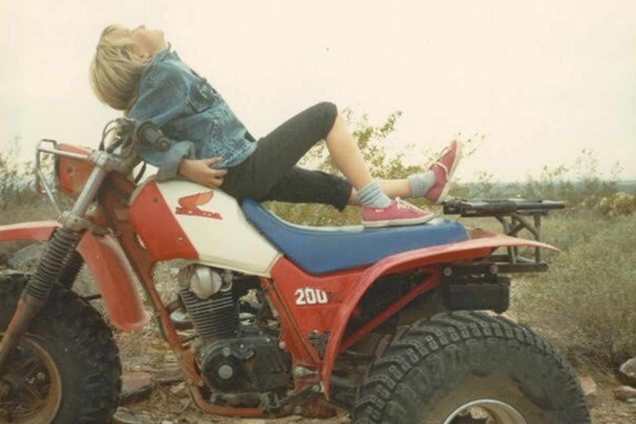 The beginning of the love affair with motorcycles. Me at 7 years old