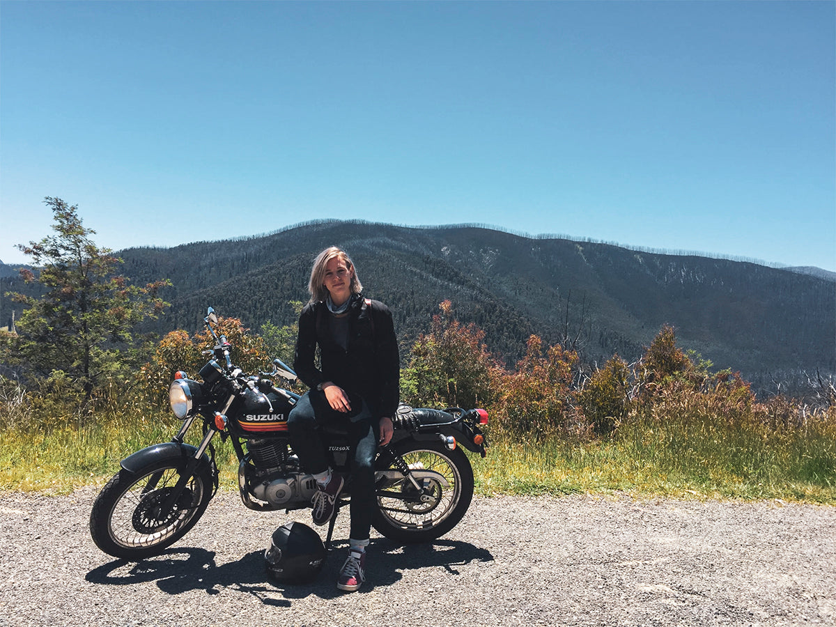 Danielle Franks motorcycle journey