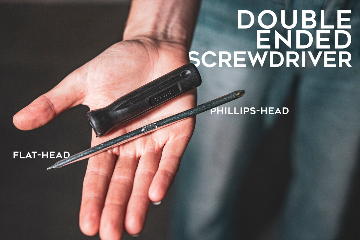 Double ended screwdriver for your tool kit