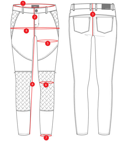 Atwyld Voyager Women's Armoured Motorcycle Jeans Size Chart