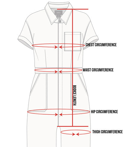 Atwyld Women's Pit Crew Jumpsuit Size Guide