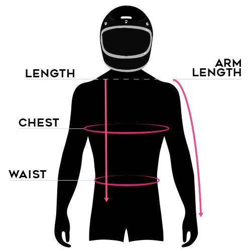 Hedon Workshop Mirage Reflective Motorcycle Jacket size chart