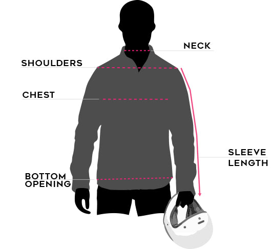 mens california riding shirt size guide