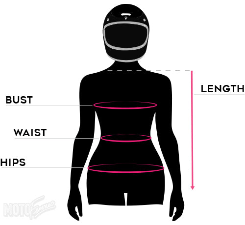 womens motorcycle jacket size guide - moto femmes