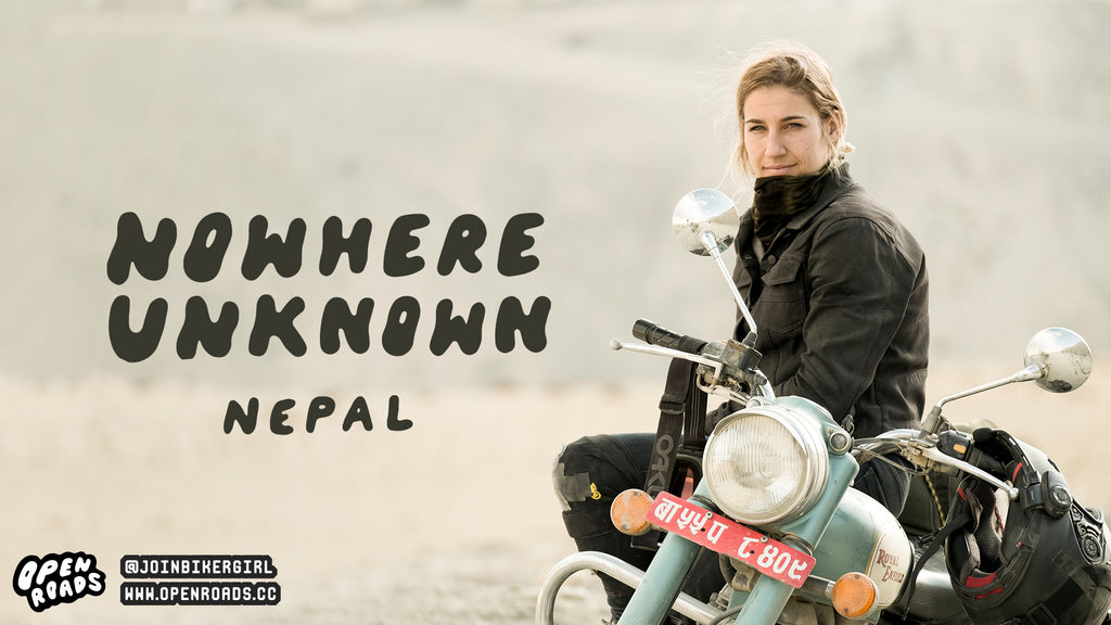 Jessica Zahra motorcycle adventures in Nepal