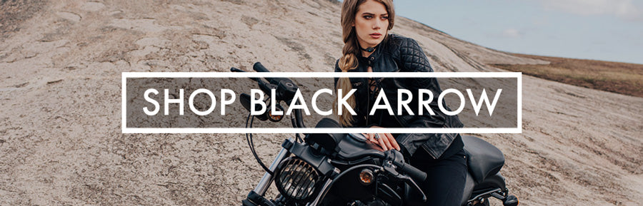 Womens motorcycle gear by black arrow label