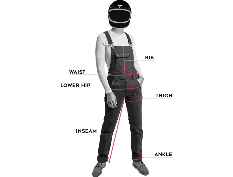 size guide for women's boondocks armoured motorcycle overalls