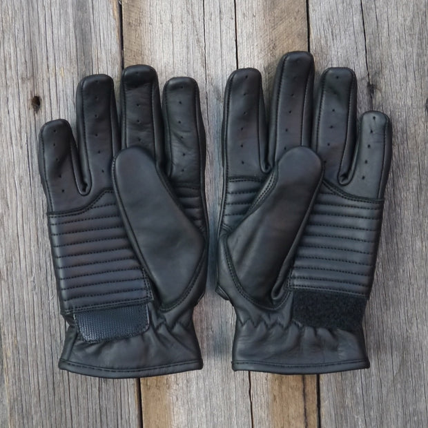 78 Motor Co. Nappa Black Stingray Leather Motorcycle Gloves - Moto Est.