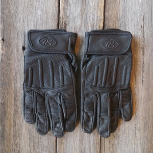 78 Motor Co. Nappa Black Sprint Leather Motorcycle Gloves - Moto Femmes