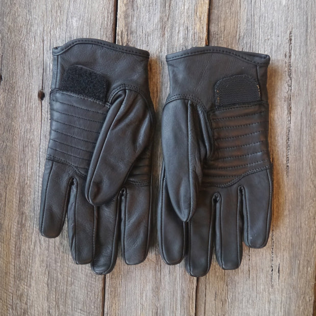78 Motor Co. Nappa Black Sprint Leather Motorcycle Gloves - Moto Est.