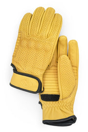 Dune Yellow Speed motorcycle gloves by 78 Motor Co. online at Moto Est Australia - pair