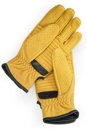 Dune Yellow Speed motorcycle gloves by 78 Motor Co. online at Moto Est Australia - velcro